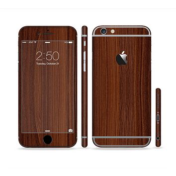The Walnut WoodGrain V3 Sectioned Skin Series for the Apple iPhone 6 Plus