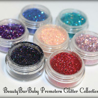 Promoters Glitter Collection FULL SIZED SET Loose Cosmetic Glitter Eyeshadow Eyeliner Nail Art Makeup