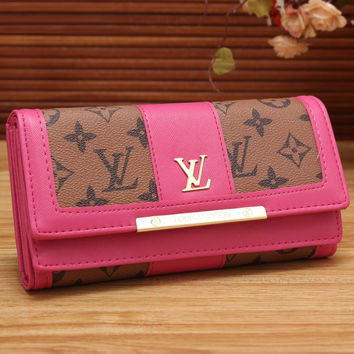 LV Women Leather Fashion Multicolor Wallet Purse