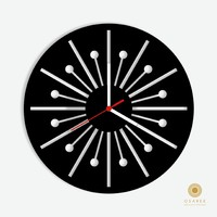 Radial Circle Wall Clock Design