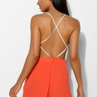 Pins And Needles Lace-Top Open-Back Romper - Urban Outfitters