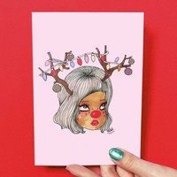 Reindear Greeting Card