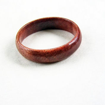 Rare Hand Carved Pink Ivory Wood Ring