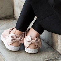 Puma Suede Bow Valentine Cute Sneakers