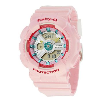 Casio Baby-G Pink Resin Analog-Digital Ladies Watch BA110CA-4A