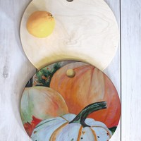 Rosie Brown Pumpkin Patch Cutting Board Round