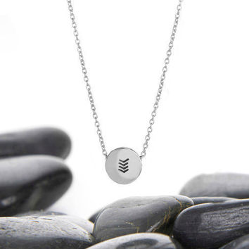 Layer Necklace, Minimalist, Chevron, Necklace, Jewelry, Chevron Necklace, Pendant, 1 direction, House of Metalworks, Gift Idea