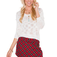 Girly Girl Plaid Skirt