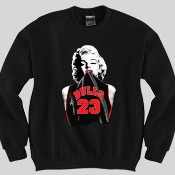 Marilyn Monroe Chicago Bulls (23) Crewneck Sports Clothing