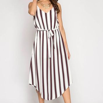 Striped Cami Jumpsuit - Ivory