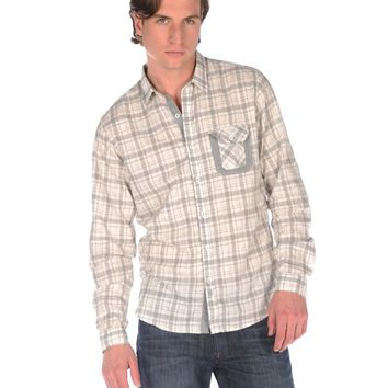 BTNS Long Sleeve Button Down in Natural - Natural