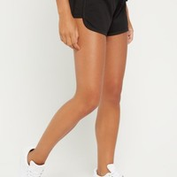 Black Mesh Panel Dolphin Short