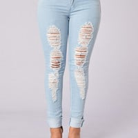 Daytime Blues Jeans - Light Blue