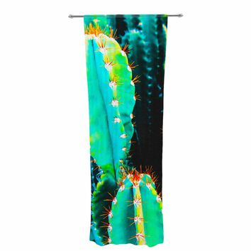 "mmartabc ""Desert Cactus Colorful"" Blue Green Nature Travel Photography Painting Decorative Sheer Curtain"