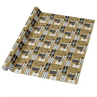 Have yourself Merry little Xmas, Black White Gold Wrapping Paper