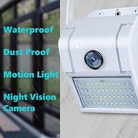 1080P HD Outdoor WiFi Wall Mounted LED Motion Light with Night Vision DVR