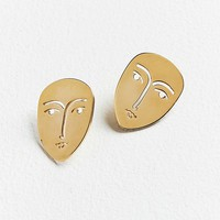 KOPI Face Post Earring | Urban Outfitters