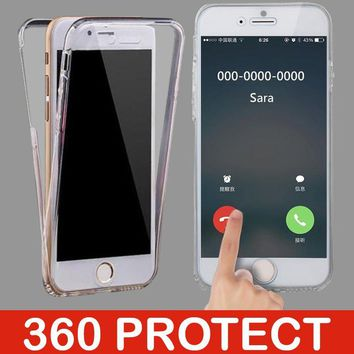 360 Full Protect TPU Case For iphone 7 Plus 5s 5 SE 6 6s 8 X Cover Silicone Soft Shell On For Huawei P20 Lite P10 P9 Phone Cases