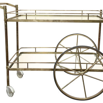 Brass & Glass Bar Cart