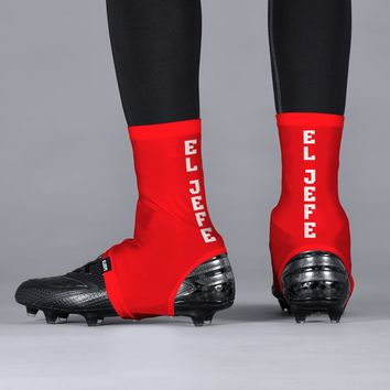 El Jefe Red Spats / Cleat Covers