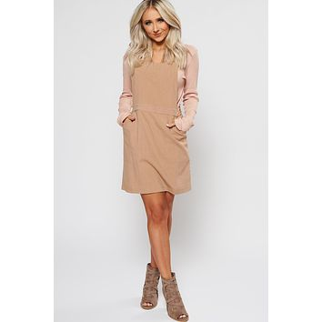New Start Overall Dress (Taupe)