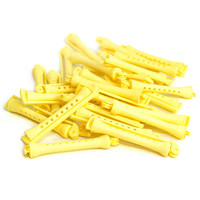Perm Rods in Banana Yellow (28 Pieces) - Plastic Swing-Arm Hair Curler Accessories, Salon Perming Tools - Vintage Ladies' Style Product