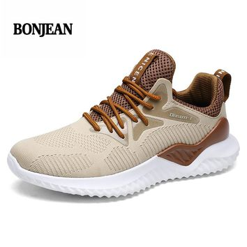 Plus Size 39-46 2018 New Brand Male Gym Sport Shoes for Men Stability Sneakers Men Athletic Trainers Tennis Shoes White Brown