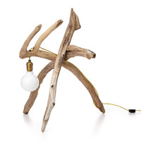 DRIFTWOOD LAMP | Contemporary Art Desk Light | UncommonGoods