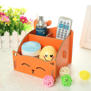 Storage Box Living Room Remote Wooden Home Tools Phone [6034239233]