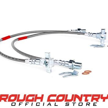 Chevrolet 1/2-Ton Pickup Front Extended Stainless Steel Brake Lines for 4-6-inch Lifts 1971 - 1978