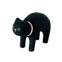 T-Lab Handcarved Wood Black Cat