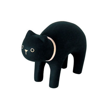 T-Lab POLÉPOLÉ Handcarved Wood Black Cat