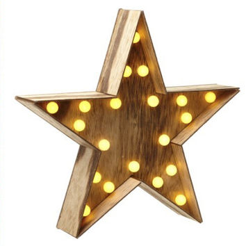 Wooden Star, Star, light up Star, LED Star, home decor, nursery, christmas star