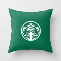 Starbucks Throw Pillow by Nico Zahlut