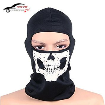 Balaclava Motorcycle CS Ghost Skull Hood Full Face Mask Ski Sport Helmet Snood Biker Motorcycle Face Mask Neck Scarf Headwear