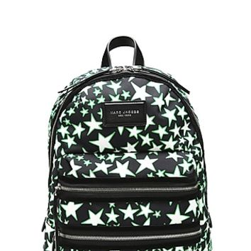 Flocked Stars Printed Biker Backpack - Marc Jacobs