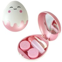 Egg Shape Contact Lens Travel Kit (Pink)