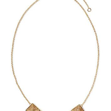 Banana Republic Five Pyramid Necklace Size One Size - Gold