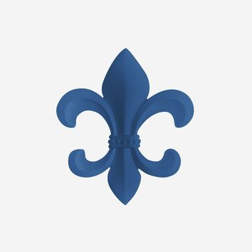 Fleur De Lis | French Inspired Decor | Navy Blue Resin