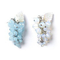 BEAUTIFUL GRAPE EARRING-AURORA BLUE