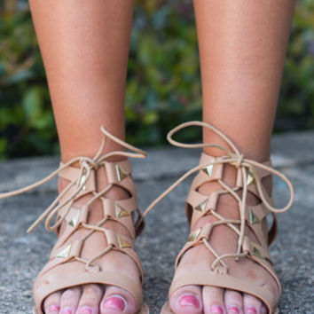 Fight To The Finish Sandals, Tan
