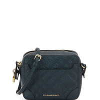 Girls' Check-Embossed Leather Crossbody Bag - Burberry