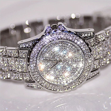 Luxury Design Watches Fashion Women Rhinestone Watches Austria Crystal Ceramic Watch Quartz Wristwatches Lady Dress Watch (With Thanksgiving&Christmas Gift Box)= 1956945348