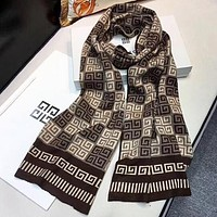 Givenchy New fashion pattern print couple scarf Coffee No Box