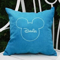 Pillow Covers Mickey Mouse Ears Boy Name Pillow Case Decorative Pillow Bedroom Home Kids Nursery Decor Throw Pillows V11
