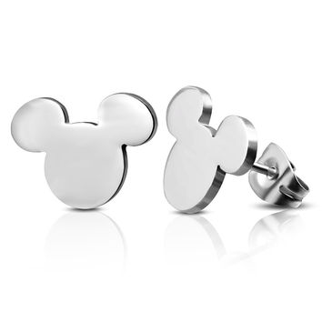 Mickey Mouse Stainless Steel Stud/Earrings