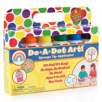 Do A Dot Art! Markers 6-Pack Rainbow Washable Paint Markers, The Original Dot M