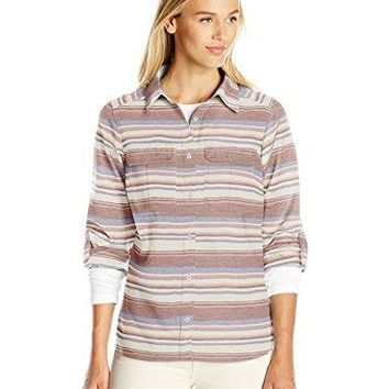Columbia Womens Pilsner Lodge Stripe Long Sleeve Shirt
