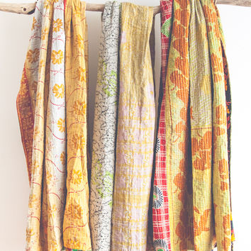 Honey Sunshine Kantha Throw