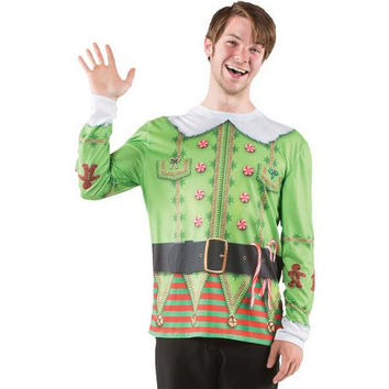 Men's Costume: Ugly Christmas Elf Sweater | Large